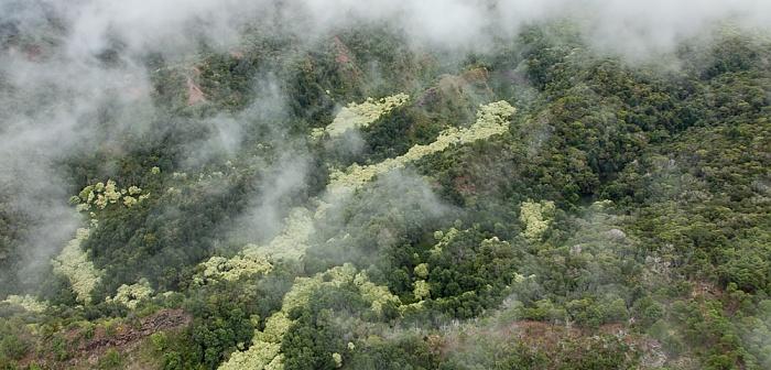 Blick aus dem Hubschrauber: Milolii Ridge Kauai