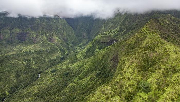 Blick aus dem Hubschrauber: Wailua Valley Kauai