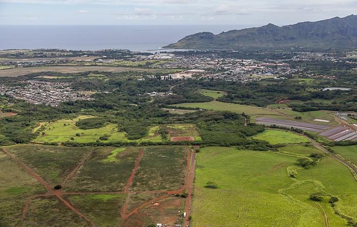 Blick aus dem Hubschrauber: Lihue Kauai