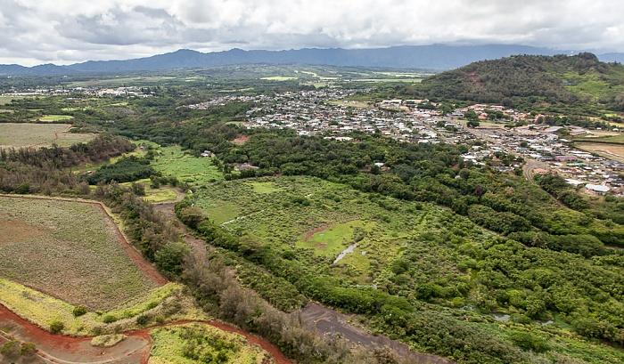 Kauai Blick aus dem Hubschrauber Hanamaulu Kalepa Luftbild aerial photo