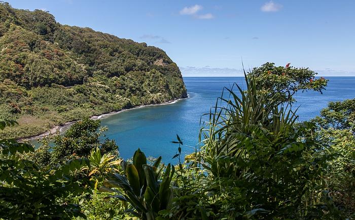Maui Hana Highway: Honomanu Bay (Pazifik)