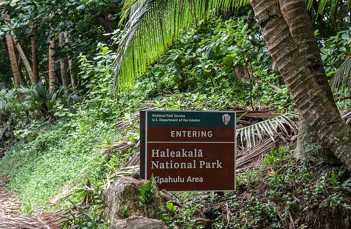 Haleakala National Park Kipahulu Section: Eingangsschild