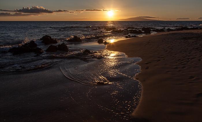 Keawakapu Beach, Pazifik, Lanai Kihei