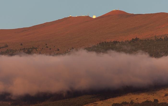 Haleakala mit dem Haleakala High Altitude Observatory Site Kihei
