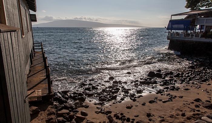 Lahaina Blick von der Front Street: Pazifik und Lanai