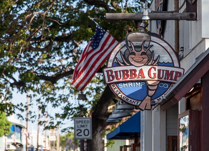 Lahaina Front Street: Bubba Gump Shrimp Co.