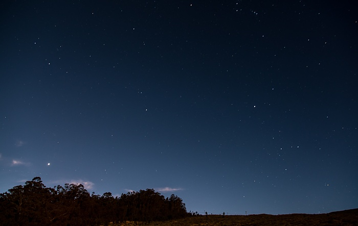 Blick vom Haleakala Highway (1950 m): Nachthimmel