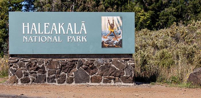 Haleakala National Park Eingangsschild