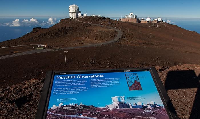 Haleakala National Park Blick vom Red Hill (Pu'u 'Ula'ula): Haleakala Observatory
