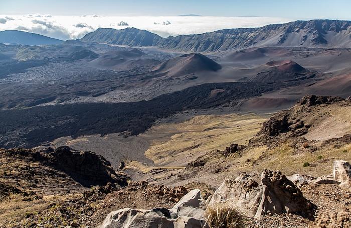 Haleakala National Park Blick vom Leleiwi Overlook: Haleakala Crater (East Maui Volcano)