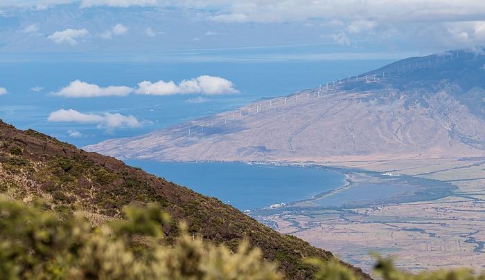 Haleakala National Park Blick vom Kalahaku Overlook: Pazifik und West Maui