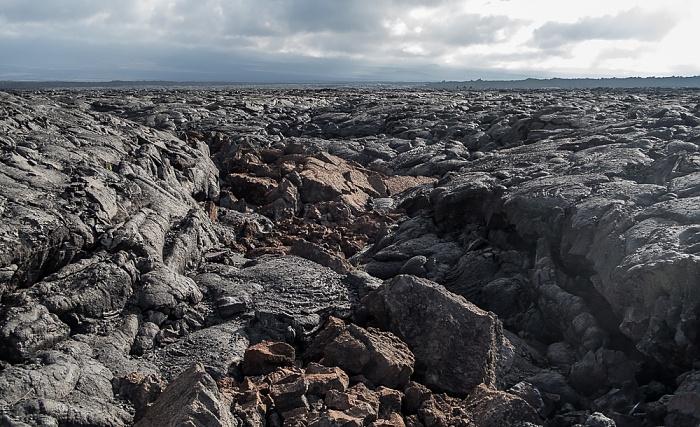Big Island Lavafelder des Mauna Loa