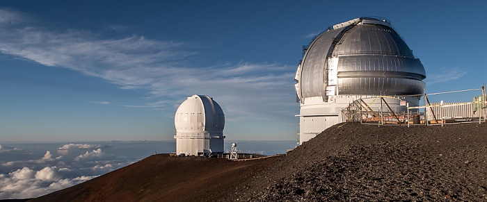 Mauna Kea Mauna-Kea-Observatorium: Canada-France-Hawaii Telescope (links), Gemini-Observatorium