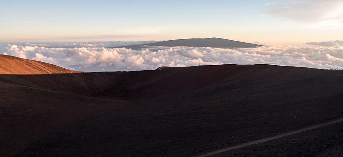 Mauna Kea Blick zum Mauna Loa