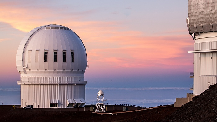Mauna Kea Mauna-Kea-Observatorium: Canada-France-Hawaii Telescope Gemini-Observatorium