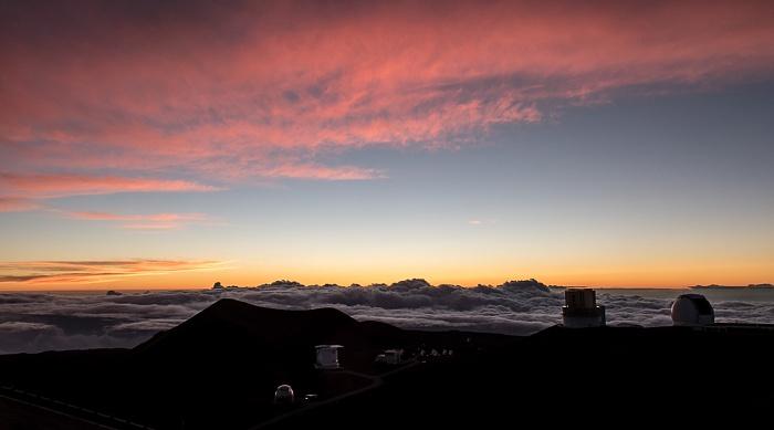 Mauna Kea Mauna-Kea-Observatorium: Gemini-Observatorium Caltech-Submillimeter-Observatorium James Clerk Maxwell Telescope Keck-Observatorium Subaru-Teleskop