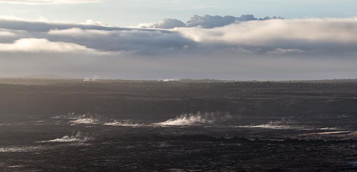 Blick vom Thomas A. Jaggar Museum Observation Deck: Kilauea Caldera Hawaii Volcanoes National Park