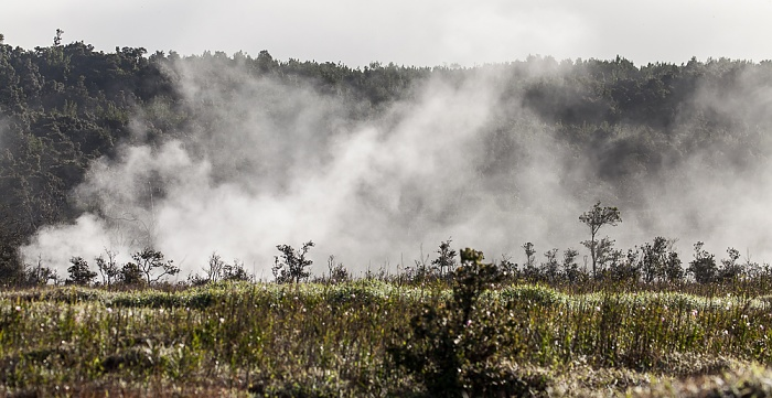 Crater Rim Drive: Kilauea Caldera mit Steam Vents Hawaii Volcanoes National Park