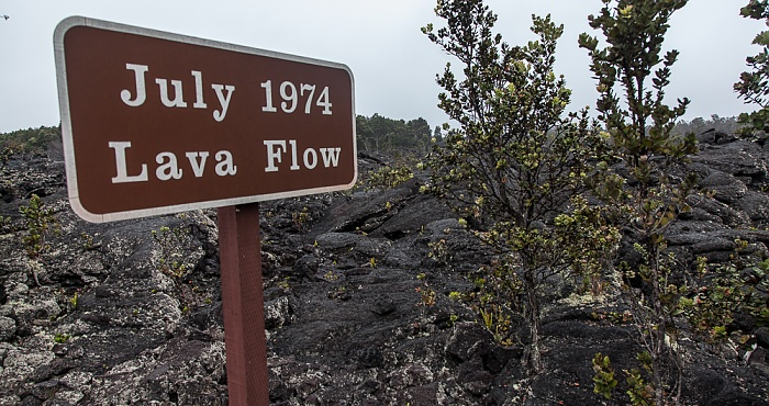 Hawaii Volcanoes National Park Chain of Craters Road: Lavafelder