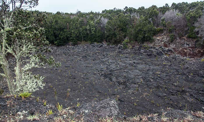 Chain of Craters Road: Lua Manu Crater Hawaii Volcanoes National Park