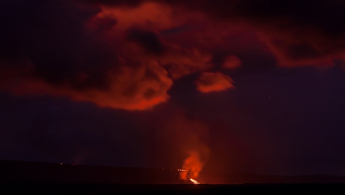 Chain of Craters Road: Nächtlicher Lavafluss Hawaii Volcanoes National Park