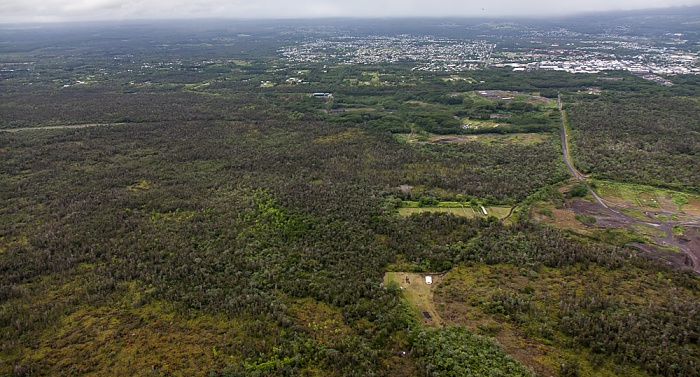 Big Island Blick aus dem Hubschrauber Hilo Luftbild aerial photo