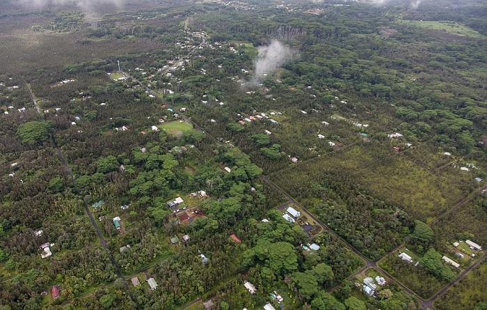 Big Island Blick aus dem Hubschrauber: Nanawale Estates Luftbild aerial photo