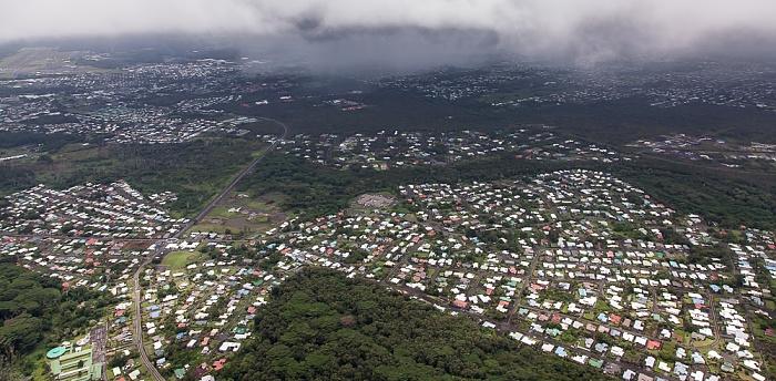 Big Island Blick aus dem Hubschrauber: Hilo Luftbild aerial photo