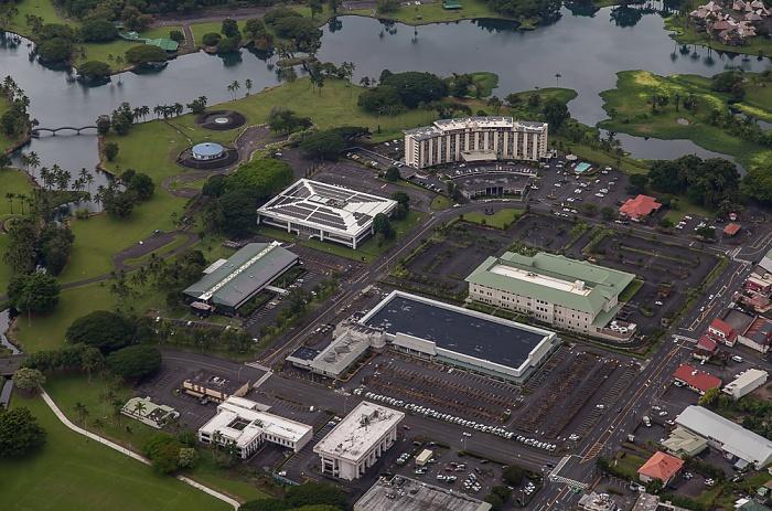 Big Island Blick aus dem Hubschrauber: Hilo Wailoa Pond Wailoa River State Park Luftbild aerial photo