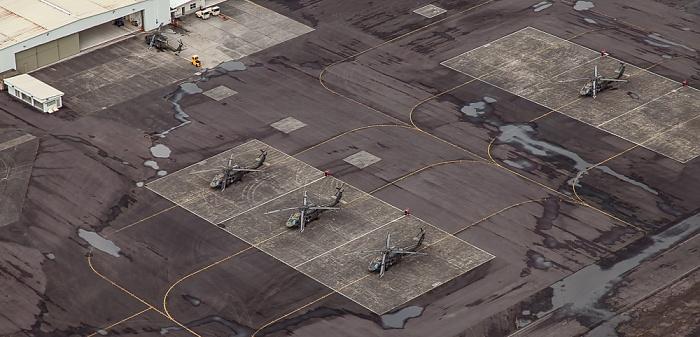 Big Island Blick aus dem Hubschrauber: Hilo International Airport Luftbild aerial photo