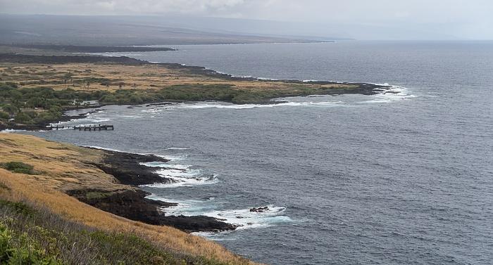 Big Island Blick vom Haleokane Lookout: Pazifik