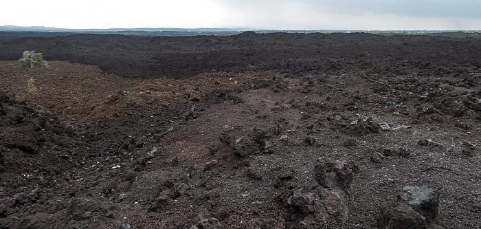 Ocean View Lavafelder am Mamalahoa Highway