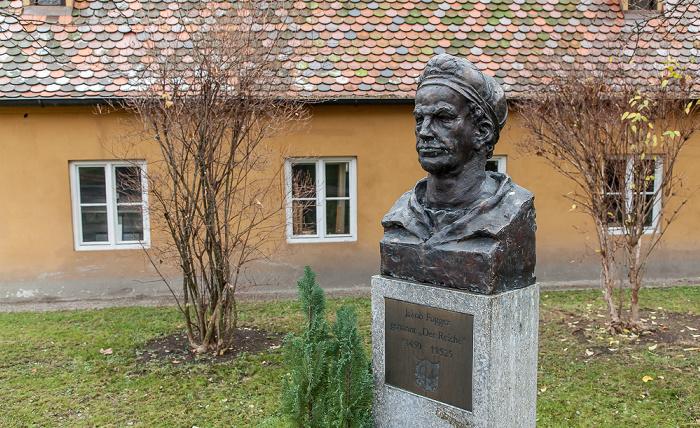 Augsburg Fuggerei: Denkmal Jakob Fuggers