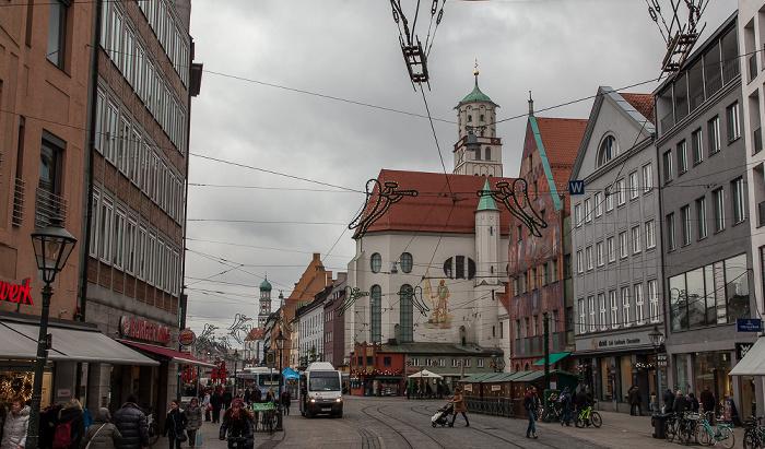 Augsburg Maximilianstraße: St. Moritz Basilika St. Ulrich und Afra