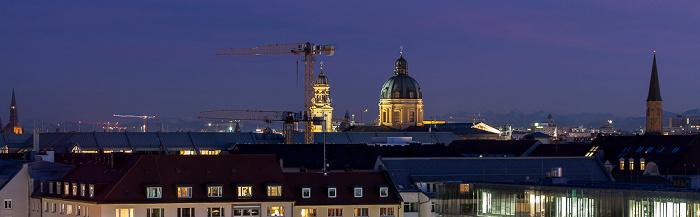 München Blick von der Technischen Universität (Arcisstraße): Theatinerkirche St. Johann Baptist St. Salvator Technische Universität
