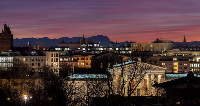 München Blick von der Technischen Universität (Arcisstraße) Neues Justizgebäude Staatliche Antikensammlungen Technische Universität