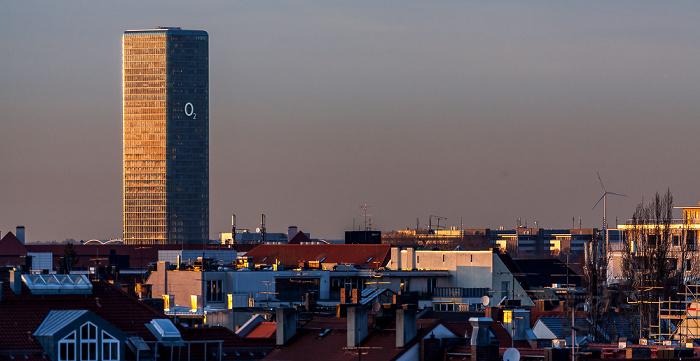 München Blick von der Technischen Universität (Arcisstraße): Uptown-Hochhaus Technische Universität