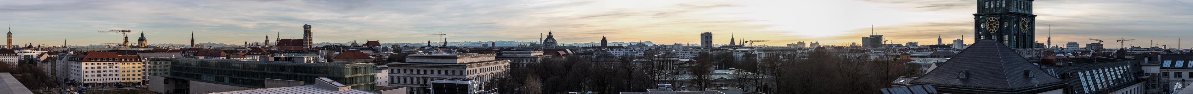 München Blick von der Technischen Universität (Arcisstraße 21)