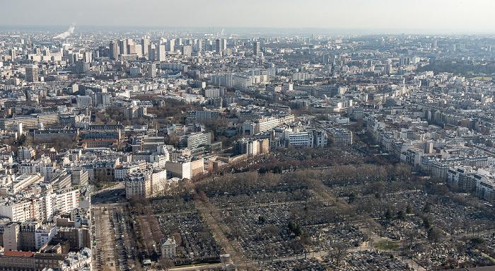 Blick vom Tour Montparnasse: Cimetière Montparnasse Paris