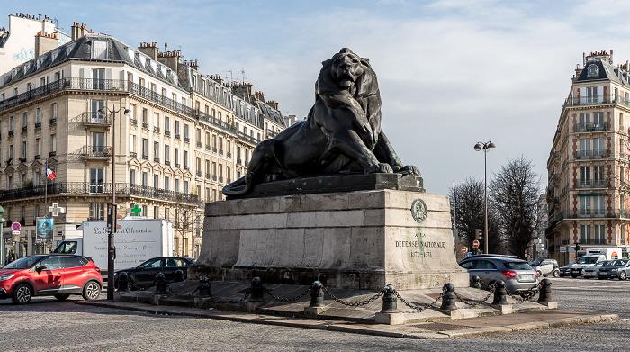 Montparnasse: Place Denfert-Rochereau - Lion de Belfort (Löwe von Belfort) Paris 2018