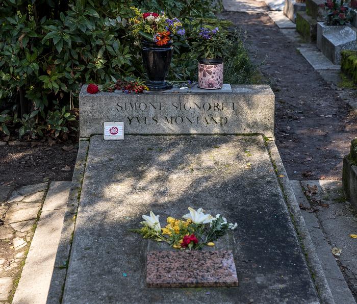 Cimetière du Père-Lachaise: Grab von Simone Signoret (1921-1985) und Yves Montand (1921-1991) Paris
