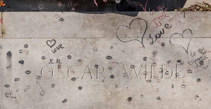 Cimetière du Père-Lachaise: Grabmal von Oscar Wilde (1854-1900) Paris