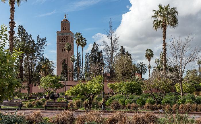 Marrakesch Koutoubia-Gärten Koutoubia-Moschee