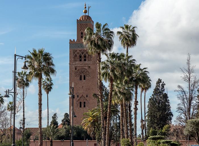 Marrakesch Koutoubia-Gärten, Koutoubia-Moschee