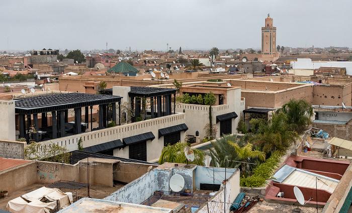 Marrakesch Blick aus Le Jardin Secret: Medina