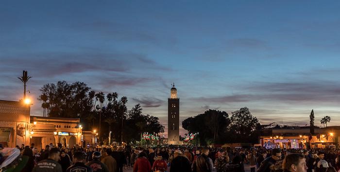 Marrakesch Medina: Place Djemaa el Fna Koutoubia-Moschee