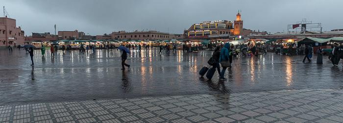 Marrakesch Medina: Place Djemaa el Fna - Essens- und Getränkestände