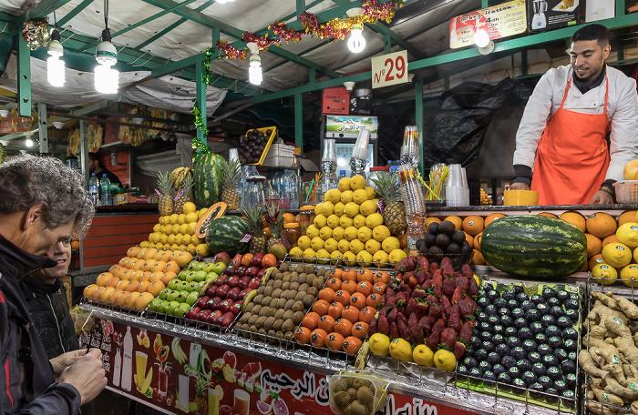 Marrakesch Medina: Place Djemaa el Fna - Getränkestände