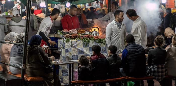 Marrakesch Medina: Place Djemaa el Fna - Essensstand