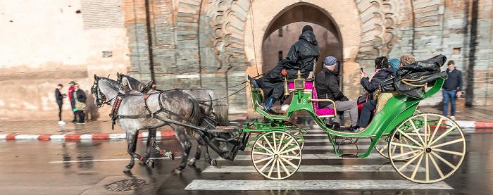Marrakesch Rue Oqba Ben Nafaa: Pferdekutsche Bab Agnaou